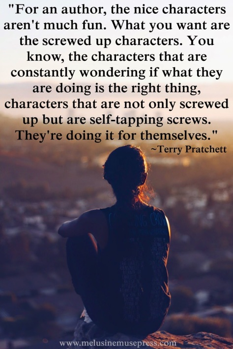 Screwed up characters quote by Terry Pratchett